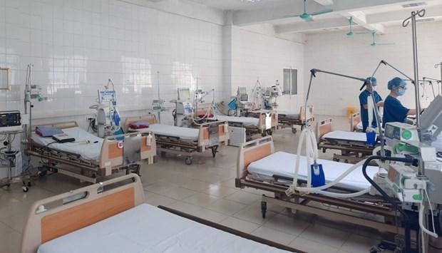 河内制定为中度以上新冠患者确保8000张床位的方案 hinh anh 1