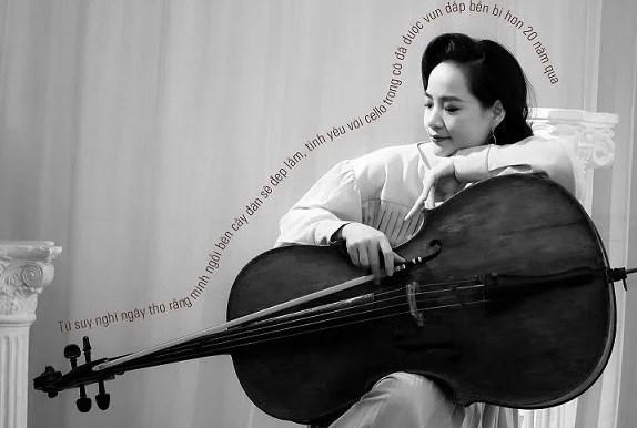越南大提琴家丁怀春举行线上音乐会 弘扬抗疫精神 hinh anh 1