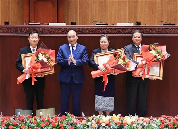 越南国家主席阮春福访老期间的系列活动 hinh anh 5
