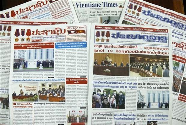 老挝各大报纸评价越南国家主席对老挝进行的正式友好访问取得圆满成功 hinh anh 1