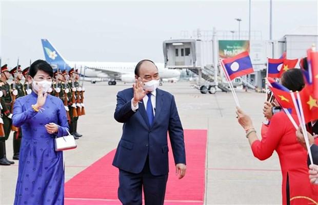 越南国家主席阮春福圆满结束对老挝进行的正式友好访问 hinh anh 2