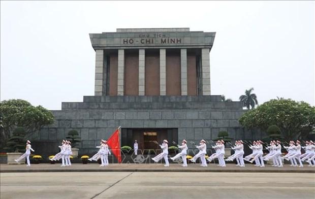 胡志明主席陵墓:越南民族神圣的空间 hinh anh 1