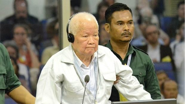 柬埔寨法院特別法庭对红色高棉前领导人乔森潘进行复审 hinh anh 1