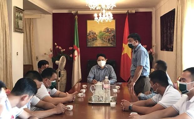越南队已准备好参加在阿尔及利亚举行的2021年国际军事比赛 hinh anh 1