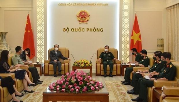 越南国防部副部长黄春战上将会见中国驻越南大使熊波 hinh anh 1