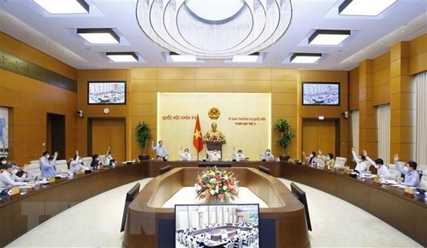 国会常务委员会第二次会议:审议2022年国家财政预算经常性支出分配原则、标准和额度 hinh anh 1