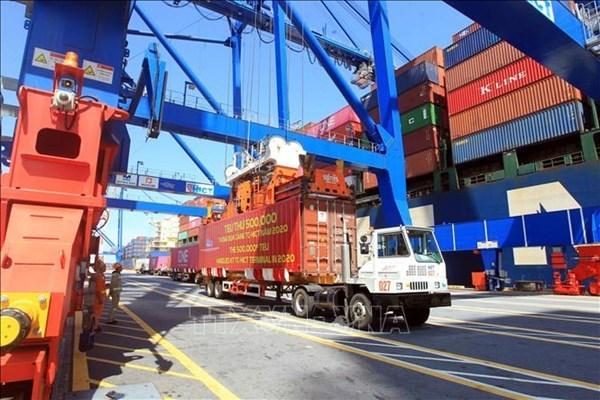越南各海口集装箱吞吐量同比增长18% hinh anh 1