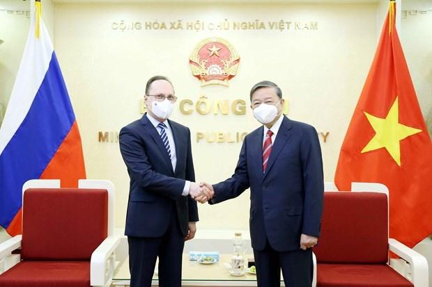 越南与俄罗斯继续加大打击犯罪合作力度 hinh anh 1