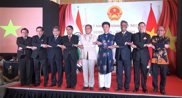 越南驻外使领馆和使团举行国庆76周年庆祝活动 hinh anh 1