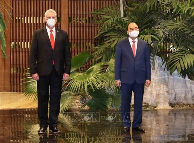 古巴媒体密集报道越南国家主席阮春福正式访古 hinh anh 1