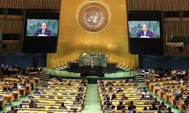 越南加入联合国 44 周年:致力于和平与可持续发展的强有力伙伴 hinh anh 1