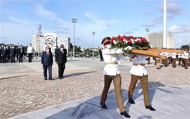 古巴国家主席主持仪式 欢迎阮春福主席对古巴进行正式访问 hinh anh 6