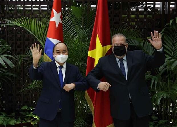 古巴媒体密集报道越南国家主席阮春福正式访古 hinh anh 2