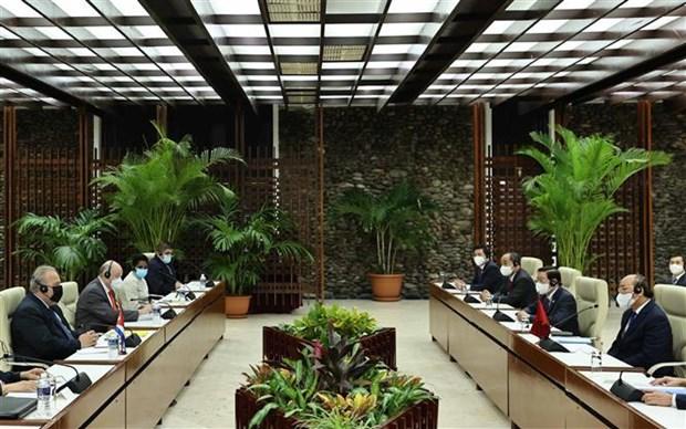 越南国家主席阮春福会见古巴总理 hinh anh 2