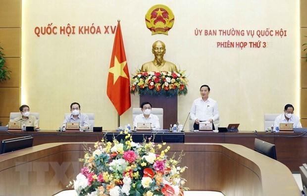 越南国会常务委员会第三次会议:对许多重要内容提出意见 hinh anh 1