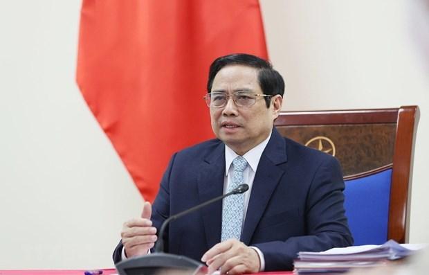 政府总理范明政建议COVAX尽快为越南分配2021年疫苗 hinh anh 1