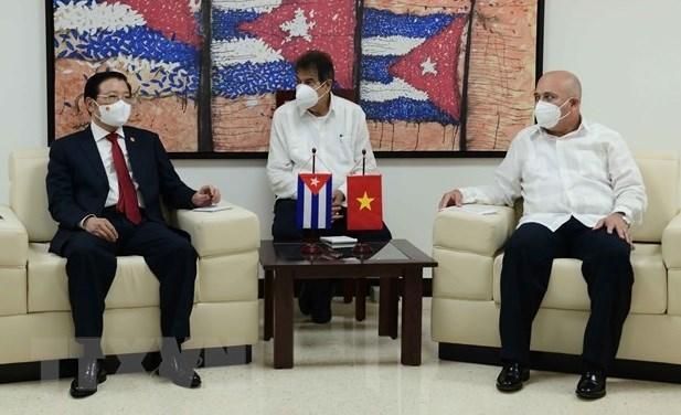 越共中央内政部领导会见古巴共产党领导 hinh anh 1