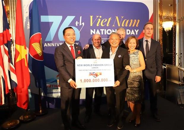 越南驻英国大使馆表彰为越南新冠肺炎疫情防控给予大力支持的个人和组织 hinh anh 2