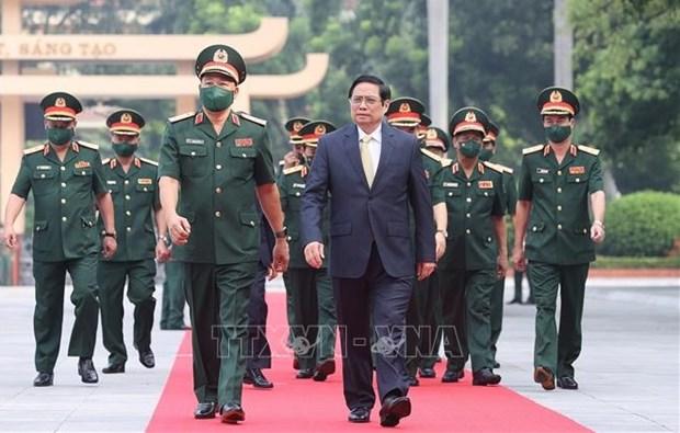 范明政总理:国防学院以学校为基础以教师为动力 以学员为中心 hinh anh 1