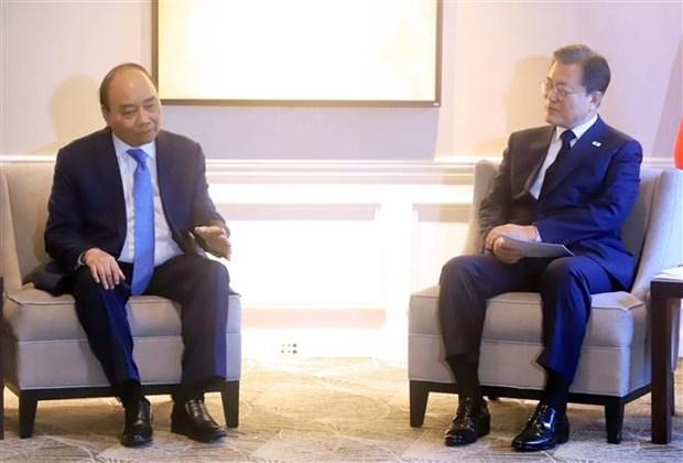 第76届联合国大会:越南国家主席阮春福会见部分国家和国际组织领导 hinh anh 1