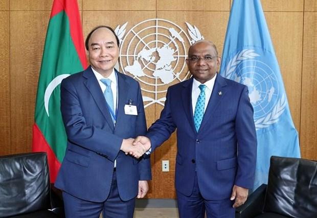第76届联合国大会:阮春福会见第76届联合国大会主席和联合国秘书长 hinh anh 2