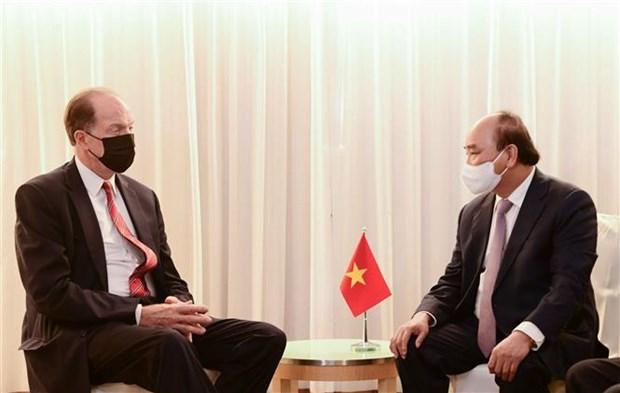 第76届联合国大会:越南国家主席阮春福会见部分国家和国际组织领导 hinh anh 5