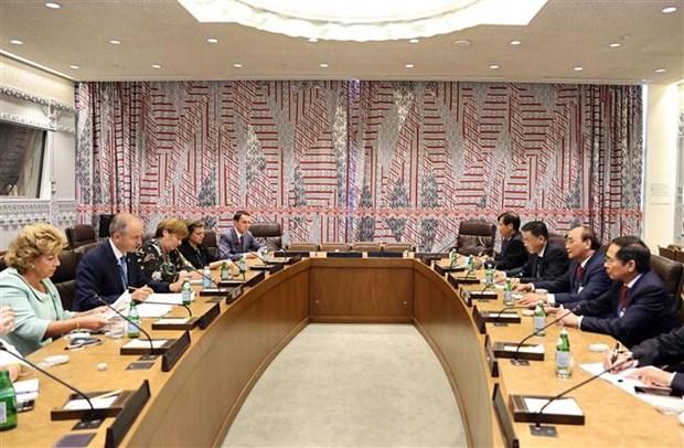 第76届联合国大会:越南国家主席阮春福会见部分国家和国际组织领导 hinh anh 2