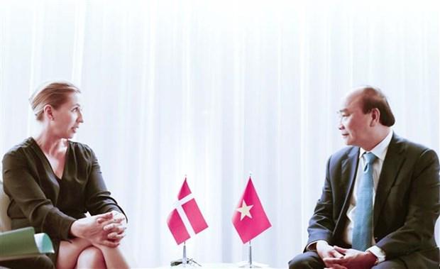 第76届联合国大会:越南国家主席阮春福会见部分国家和国际组织领导 hinh anh 3