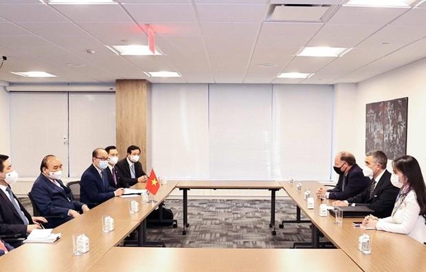 国家主席阮春福会见美国各大企业和集团领导 hinh anh 1