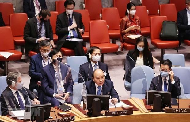 越南国家主席阮春福:联合国应建立海平面上升多维影响主数据库 hinh anh 1