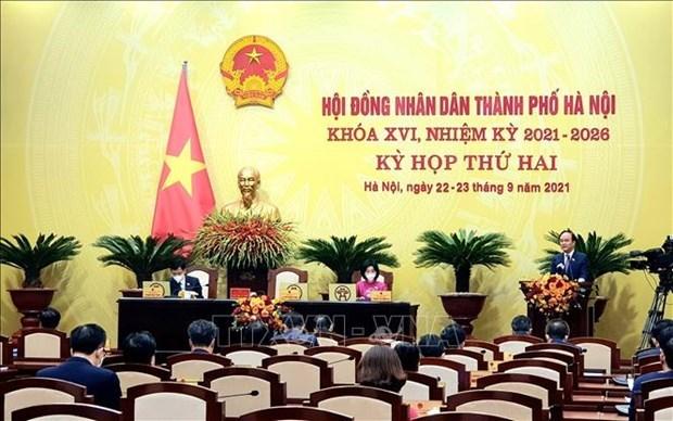 河内市人民议会通过17项决议 推进首都发展 hinh anh 1