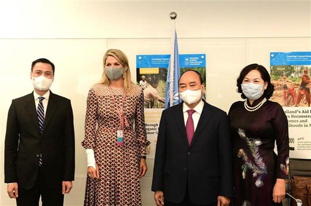 第76届联合国大会:国家主席阮春福会见各国领导 hinh anh 3