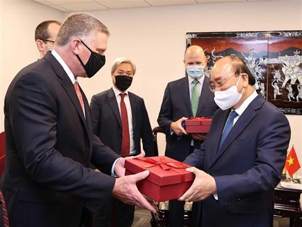 越南国家主席阮春福会见美国领先能源企业领导 hinh anh 2