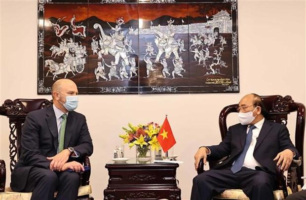 越南国家主席阮春福会见美国领先能源企业领导 hinh anh 3