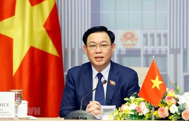 越南国会主席王廷惠将会见美国企业代表 hinh anh 1