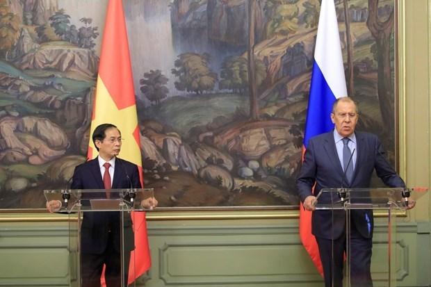 越南外交部长裴青山对俄罗斯进行正式访问 hinh anh 1