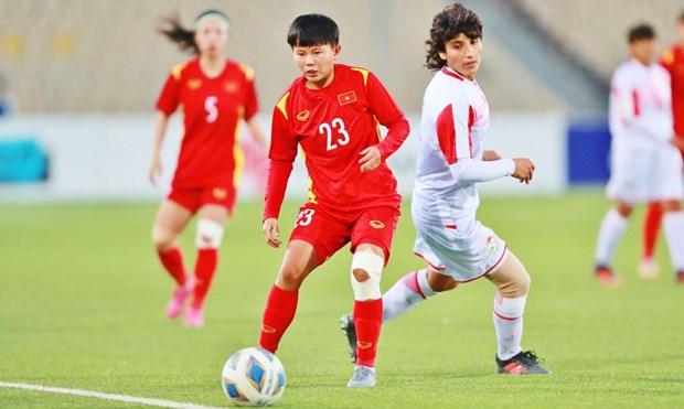 2022年女足亚洲杯预选赛:大胜塔吉克斯坦 越南队获得亚洲杯参赛资格 hinh anh 2