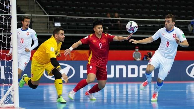 越南五人制足球队排名上升3位 升至亚洲第6名 hinh anh 1