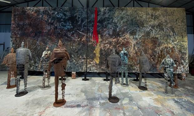 越南艺术家的首个个人展亮相意大利 hinh anh 1