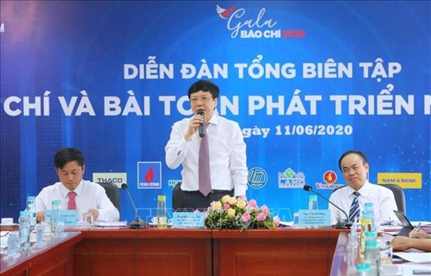 "Dien dan Tong Bien tap ""Bao chi va bai toan phat trien nguon thu"" hinh anh 1"