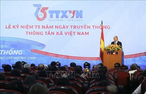 Le Ky niem 75 nam Ngay truyen thong Thong tan xa Viet Nam hinh anh 1