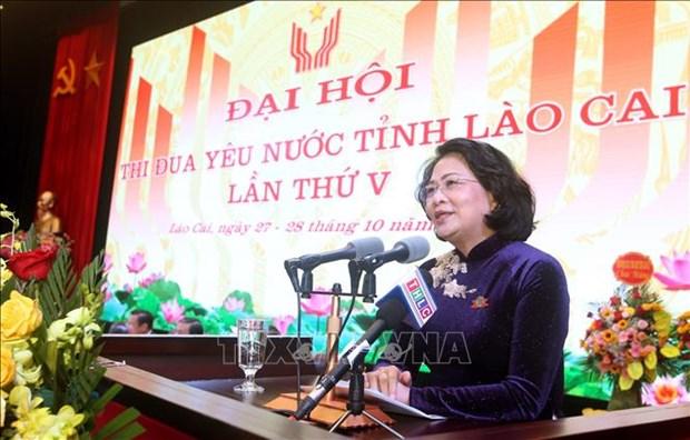 Pho Chu tich nuoc Dang Thi Ngoc Thinh: Lao Cai can doi moi thi dua phu hop voi van hoa cua dong bao hinh anh 1