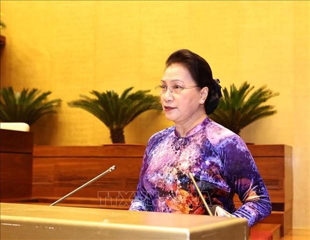Chu tich Quoc hoi Nguyen Thi Kim Ngan gap mat Doan dai bieu du Dai hoi Bieu duong cac mo hinh hoc tap toan quoc hinh anh 1