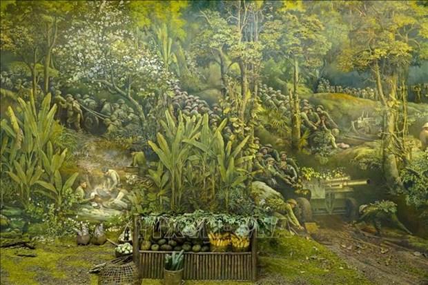 Buc tranh Panorama tai hien Chien dich Dien Bien Phu hinh anh 3