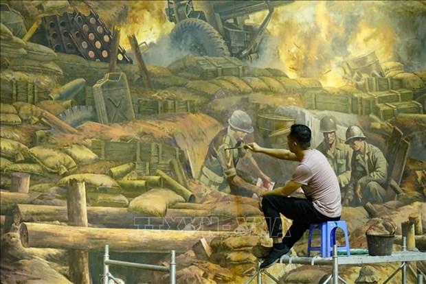 Buc tranh Panorama tai hien Chien dich Dien Bien Phu hinh anh 6