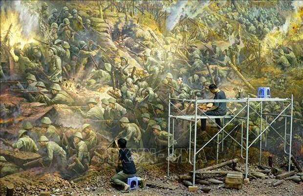 Buc tranh Panorama tai hien Chien dich Dien Bien Phu hinh anh 8
