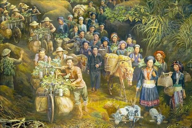 Buc tranh Panorama tai hien Chien dich Dien Bien Phu hinh anh 9