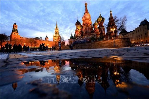 Canh tuong hoang hon hiem gap tren bau troi Moskva hinh anh 4