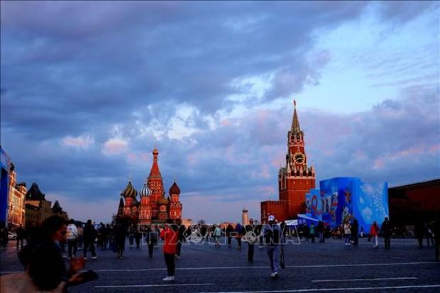 Canh tuong hoang hon hiem gap tren bau troi Moskva hinh anh 5