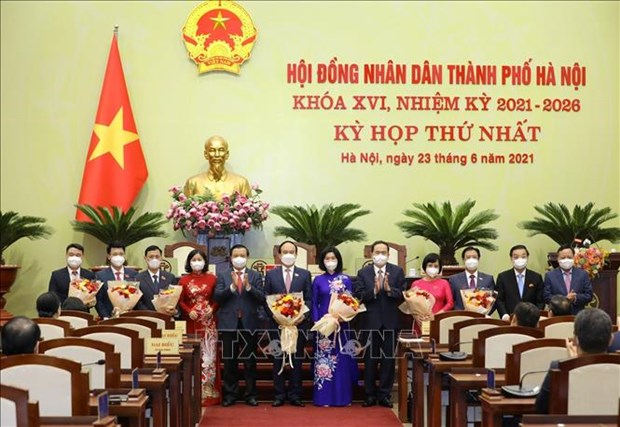 Ong Nguyen Ngoc Tuan duoc bau lai lam Chu tich Hoi dong nhan dan thanh pho Ha Noi khoa XVI hinh anh 1